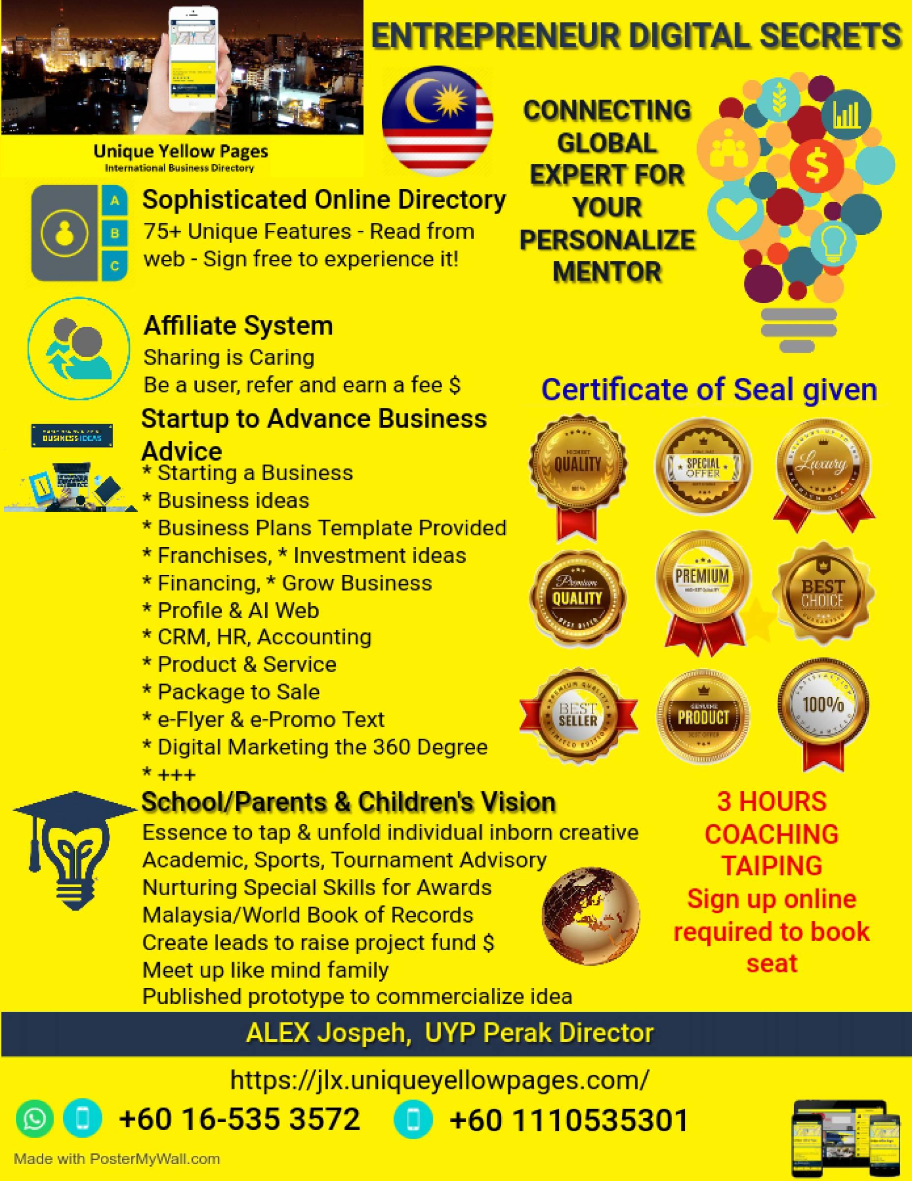 Entrepreneurs Digital Secrets (Rahsia Digital Usahawan in Taiping